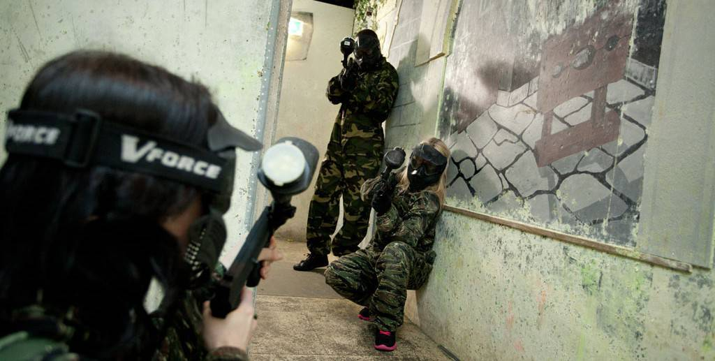 paintball action house